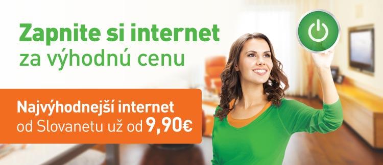 Zapnite si internet za výhodnú cenu - Najvýhodnejší internet os Slovanetu už od9,90